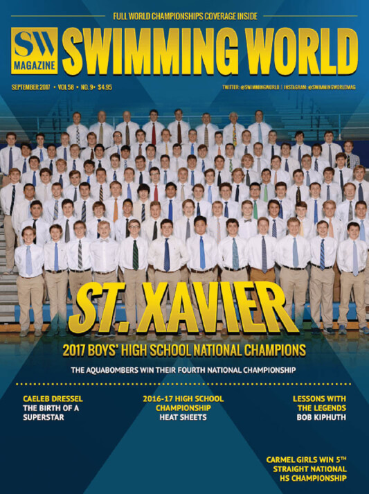 Swimming World Magazine September 2017 Issue--PDF ONLY - Cover