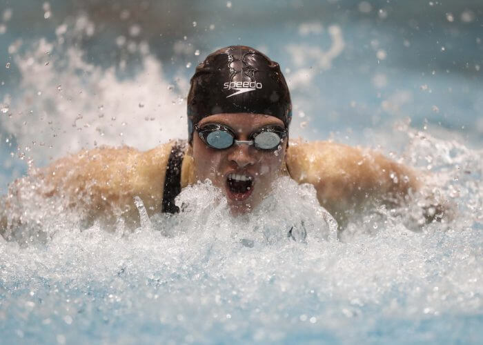 KNOXVILLE, TN - DECEMBER 01, 2017 - Erika Brown of the Tennessee Volunteers during the Day 2 finals session during the Tennessee Invitational at the Allan Jones Intercollegiate Aquatic Center in Knoxville, TN. Photo By John Golliher/Tennessee Athletics
