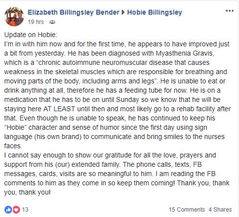 hobie-billingsley-medical-update-facebook