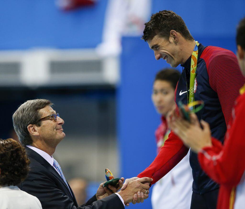 Dale neuburger and Michael Phelps