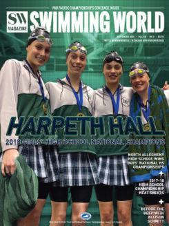 Swimming World September 2018 - Harpeth Hall - COVER