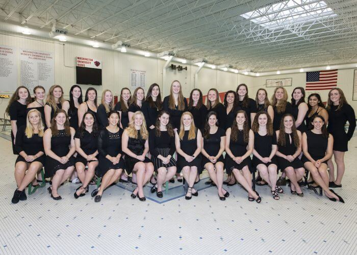 10.19.2018- Swim and dive team and senior pix. Photo by Mary Butkus/WUSTL Photographic Services