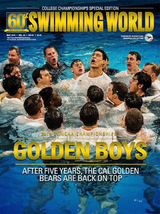 Swimming World Magazine May 2019 Issue - PDF ONLY - Cover
