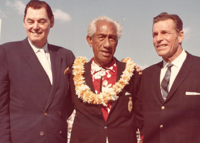 Johnny Weissmuller - Duke Kahanamoku - Buster Crabbe - Did You Know - ISHOF First Inductees Honorees - Swimming World - International Swimming Hall of Fame
