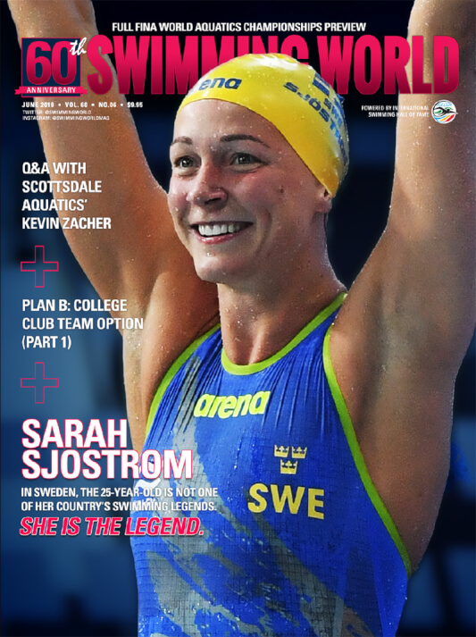 Swimming World Magazine June 2019 Issue - PDF ONLY - Cover