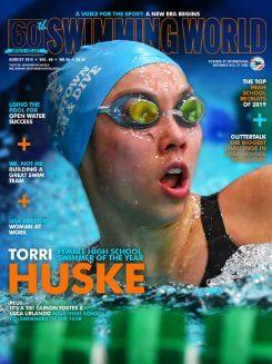 Swimming World August 2019 Cover Torri Huske