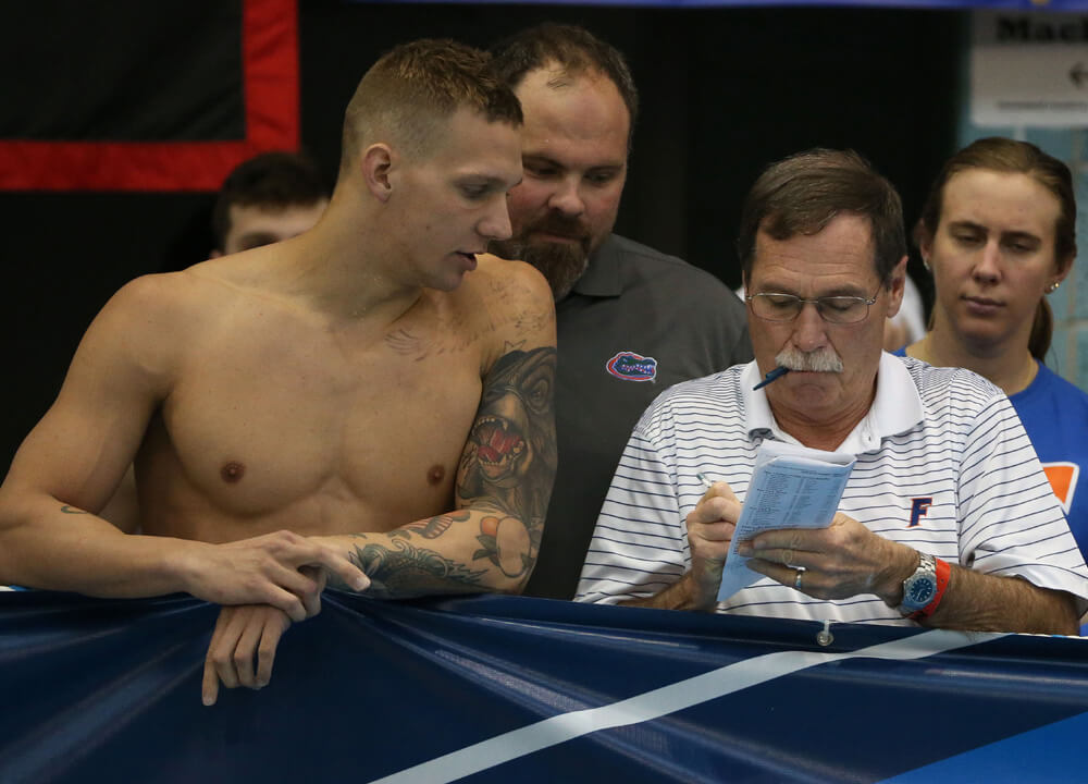 Swimming World July 2019 - Special Sets - Caeleb Dressel and Gregg Troy
