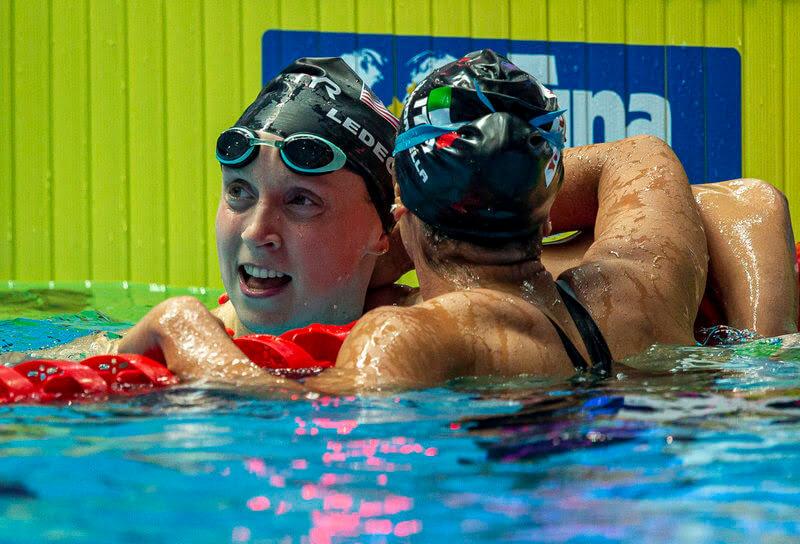katie ledecky, best women's swimmers