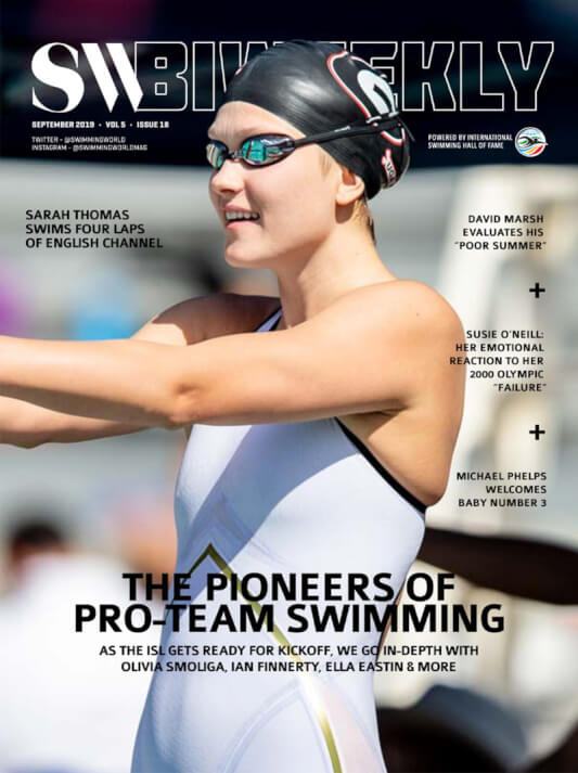 SW Biweekly - The Pioneers of Pro-Team Swimming: Olivia Smoliga, Ian Finnerty, Ella Eastin & More - Cover