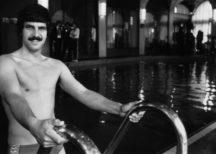 19th April 1978: Mark Spitz who won seven gold medals for swimming in the 1972 Munich Olympic Games. (Photo by Graham Morris/Evening Standard/Getty Images)