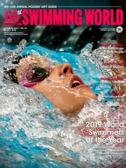 Swimming World December 2019 Cover 2019 World Swimmers of the Year Regan Smith 800x1070