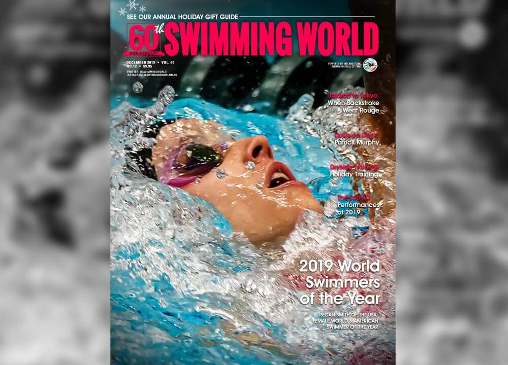 Swimming World December 2019 Cover 2019 World Swimmers of the Year Regan Smith slider image
