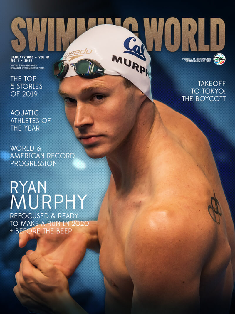 Swimming World January 2020 Cover with Ryan Murphy