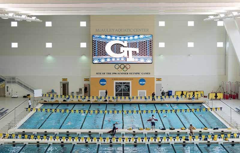 georgia tech mcauley aquatic center