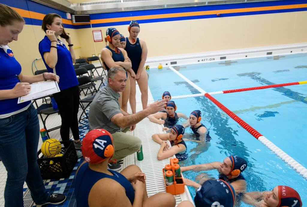 2019 Macalester College Women Water Polo host Monmouth