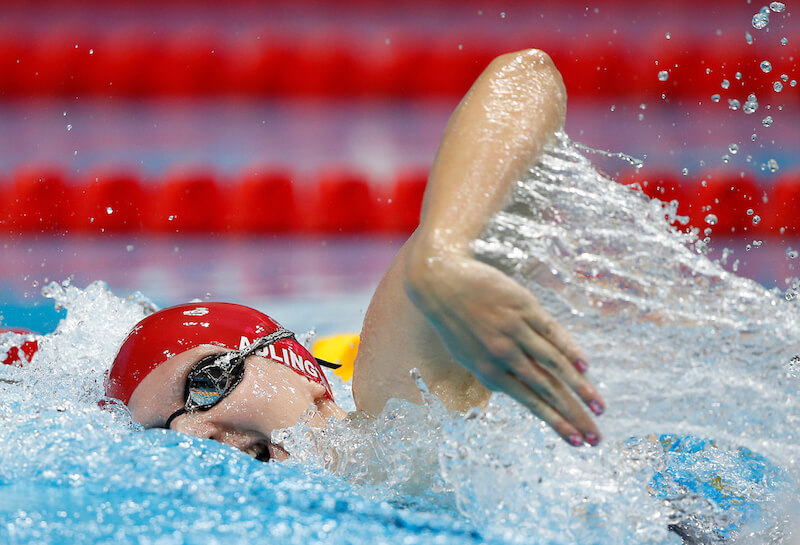 Rebecca Adlington of Great Britain competes in the women's 800m Freestyle Heats during the Swimming competition held at the Aquatics Center during the London 2012 Olympic Games in London, Great Britain, Thursday, Aug. 2, 2012. (Photo by Patrick B. Kraemer / MAGICPBK)
