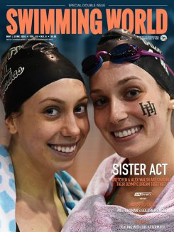 Swimming World May June 2020 Issue - Gretchen and Alex Walsh - Cover