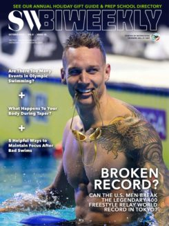 SW Biweekly 10-7-20 Cover - Caeleb Dressel - Broken Record - Can The U.S. Men Break The Legendary 400 Free Relay World Record In Tokyo