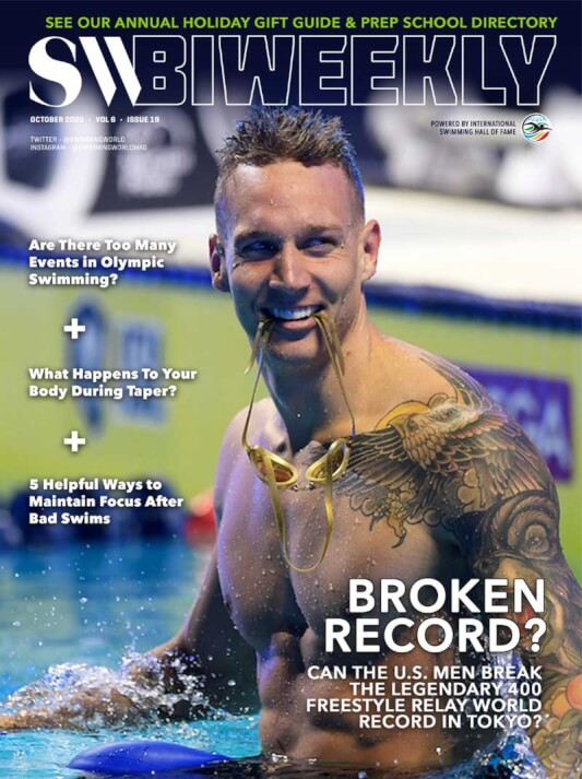 SW Biweekly - Can Team USA Topple Their Legendary 400 Free Relay World Record at Tokyo 2021? - Cover