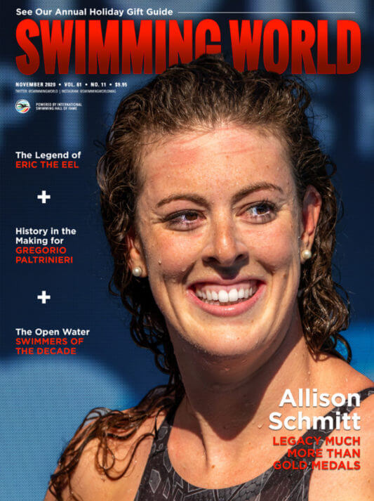 Swimming World November 2020 Cover - Allison Schmitt - A Legacy Much More Than Gold Medals