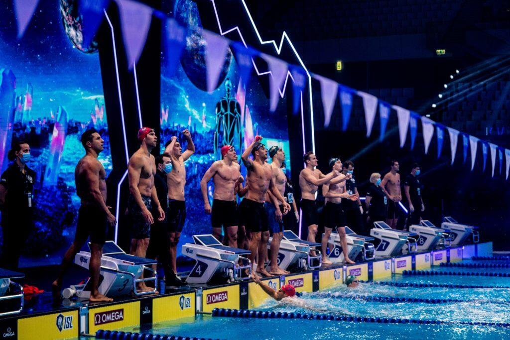 international swimming league, mens-medley-relay-energy-london