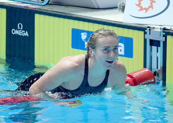 Ariarne Titmus AUS, 400m Freestyle Final, 18th FINA World Swimming Championships 2019, 21 July 2019, Gwanju South Korea. Pic by Delly Carr/Swimming Australia. Pic credit requested and mandatory for free editorial usage. THANK YOU.
