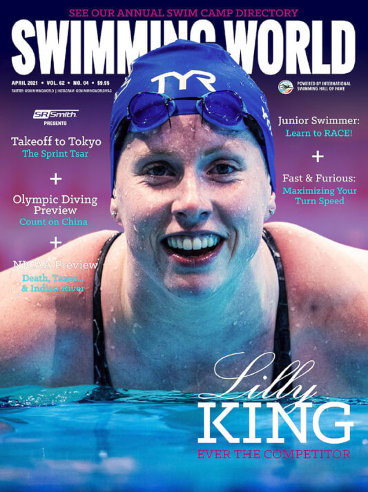 Swimming World Magazine April 2021 Issue - PDF ONLY - Cover