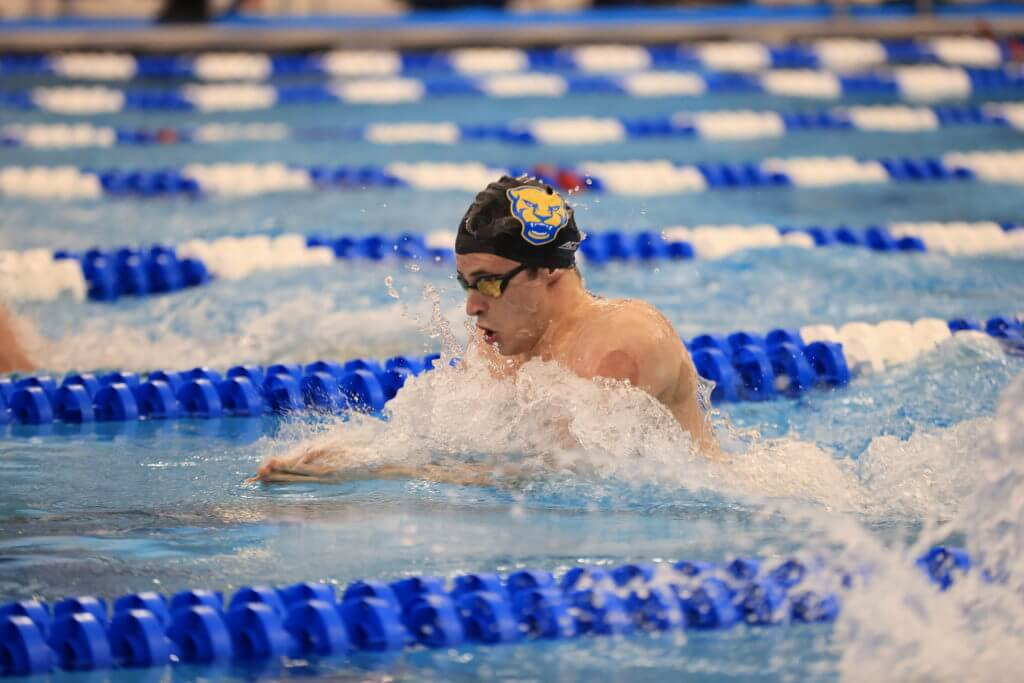 speedo-GREENSBORO, NC - MARCH 26: Swimmers compete during the Prelims of the Division I Men's Swimming & Diving Championships held at the Greensboro Aquatic Center on March 26, 2021 in Greensboro, North Carolina. (Photo by Carlos Morales/NCAA Photos via Getty Images)