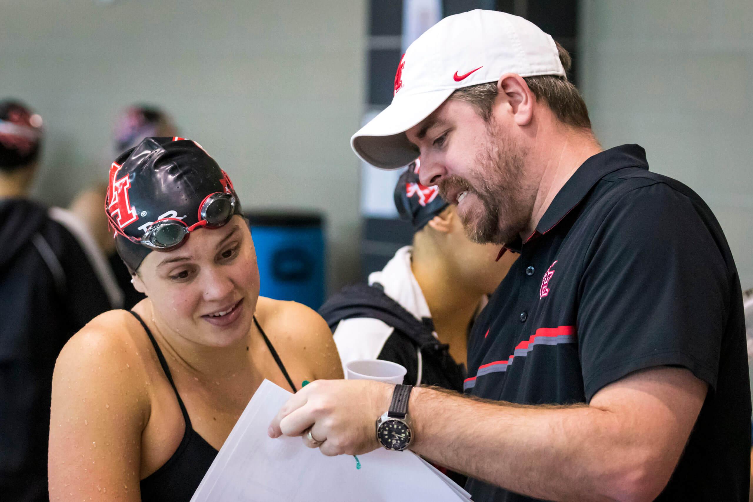 Oct. 3 - Tulane vs Houston NCAA Women's Swimming & Diving (Joe Buvid / For Houston Athletics)