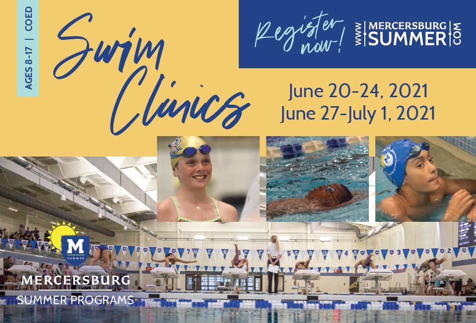 Mercersburg summer swim camp ad