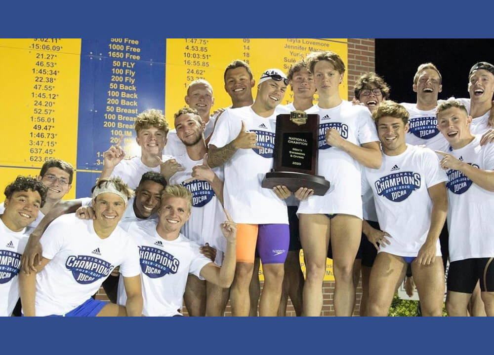 Swimming World April 2021 - NJCAA Preview - Death Taxes and Indian River NJCAA