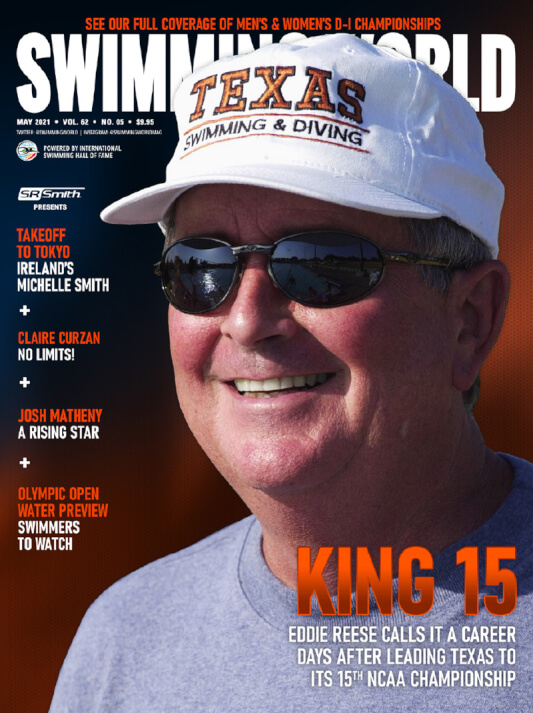 Swimming World Magazine May 2021 Issue - PDF ONLY - Cover