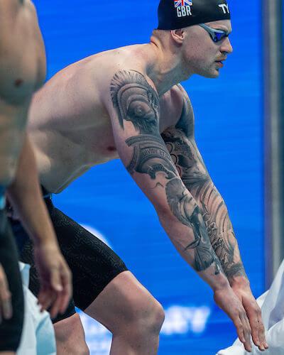 Adam Peaty Tattoo European Championships