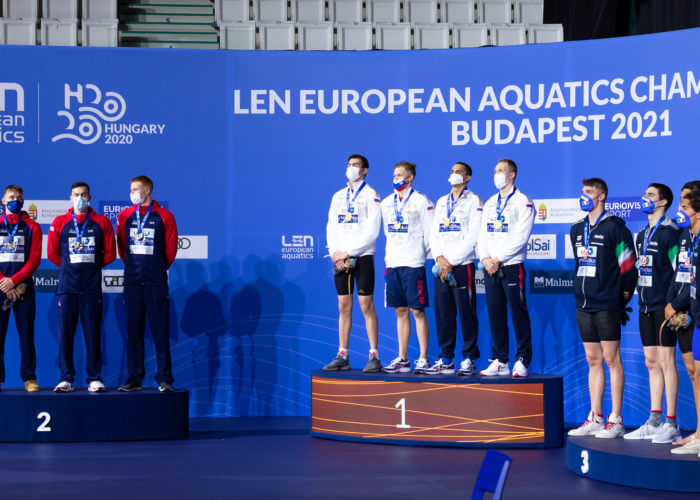 Russia 4x100 free 2021 European Championships