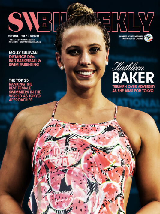 SW Biweekly - Kathleen Baker Triumphs Over Adversity As She Aims For Tokyo - Cover