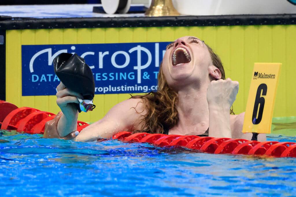 HEEMSKERK Femke NED Nederland Celebrate 100m Freestyle Women Final Swimming Budapest - Ουγγαρία 22/5/2021 Duna Arena XXXV LEN Ευρωπαϊκό Πρωτάθλημα Υδάτινων Φωτογραφιών Andrea Staccioli / Deepbluemedia / Insidefoto