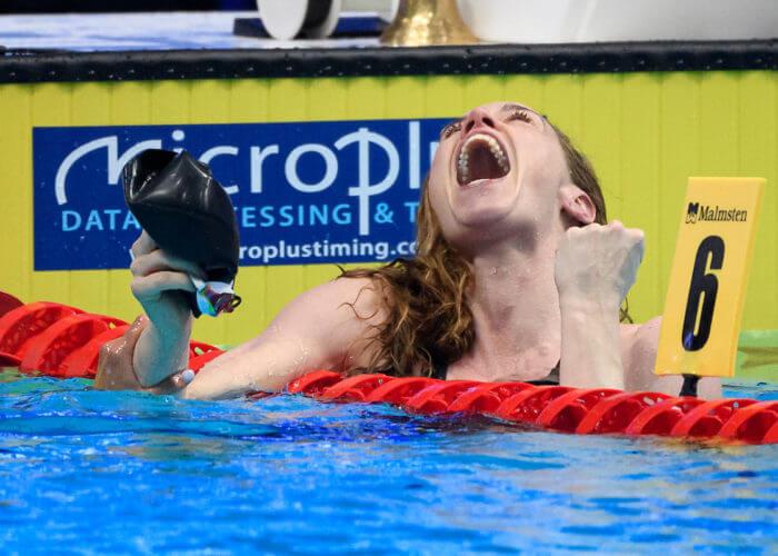 HEEMSKERK Femke NED Nederland Celebrate 100m Freestyle Women Final Swimming Budapest - Hungary 22/5/2021 Duna Arena XXXV LEN European Aquatic Championships Photo Andrea Staccioli / Deepbluemedia / Insidefoto