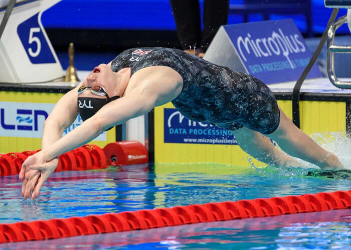 DAWSON Kathleen GBR Great Britain WOMEN - 100M BACKSTROKE Swimming Budapest - Hungary 21/5/2021 Duna Arena XXXV LEN European Aquatic Championships Photo Giorgio Perottino / Deepbluemedia / Insidefoto