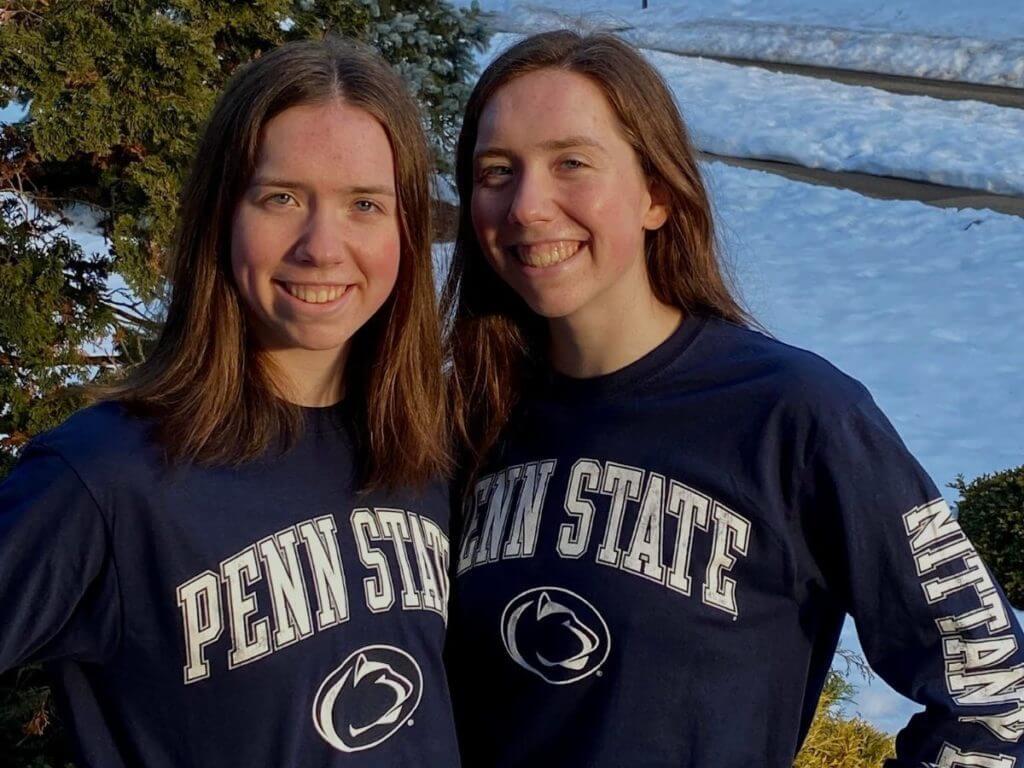 Catherine Meisner julia meisner psu penn state twins sister sisters siblings