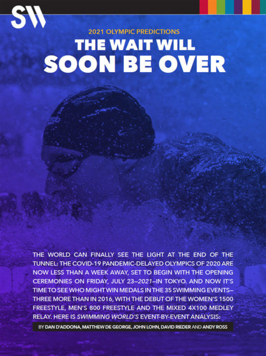 Swimming World 2021 Olympic Predictions Cover