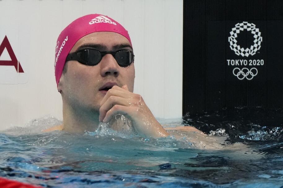Jul 30, 2021; Tokyo, Japan; Kliment Kolesnikov (ROC) in the men's 50m freestyle heats during the Tokyo 2020 Olympic Summer Games at Tokyo Aquatics Centre. Mandatory Credit: Rob Schumacher-USA TODAY Sports