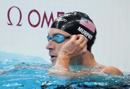 Jul 26, 2021; Tokyo, Japan; Ryan Murphy (USA) in the men's 100m backstroke semifinals during the Tokyo 2020 Olympic Summer Games at Tokyo Aquatics Centre. Mandatory Credit: Robert Hanashiro-USA TODAY Sports