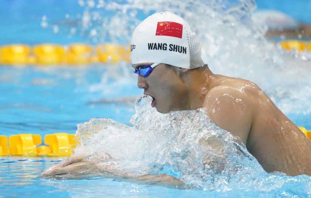Jul 28, 2021; Tokyo, Japan; Wang Shun (CHN) in the men's 200m individual medley heats during the Tokyo 2020 Olympic Summer Games at Tokyo Aquatics Centre. Mandatory Credit: Grace Hollars-USA TODAY Sports
