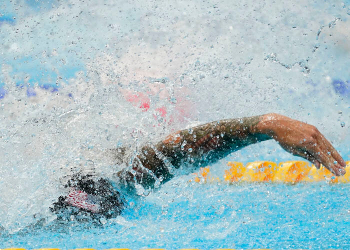 Jul 31, 2021; Tokyo, Japan; Caeleb Dressel (USA) competes in the men's 50 freestyle semifinal during the Tokyo 2020 Olympic Summer Games at Tokyo Aquatics Centre. Mandatory Credit: Grace Hollars-USA TODAY Sports