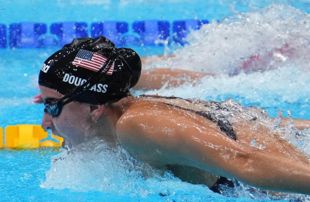 olympic-Jul 27, 2021; Tokyo, Japan; Katie Douglass (USA) in the women's 200m individual medley semifinals during the Tokyo 2020 Olympic Summer Games at Tokyo Aquatics Centre. Mandatory Credit: Robert Hanashiro-USA TODAY Sports