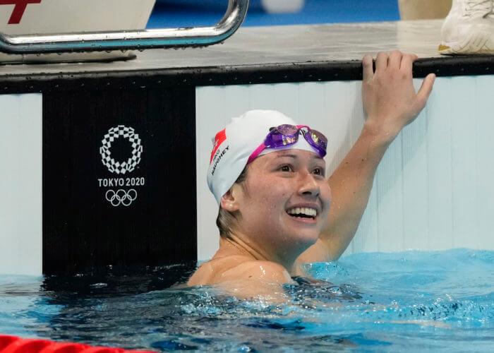 siobhan haughey, olympics-Jul 29, 2021; Tokyo, Japan; Siobahn Bernadette Haughey (HKG) in the women's 100m semifinals during the Tokyo 2020 Olympic Summer Games at Tokyo Aquatics Centre. Mandatory Credit: Rob Schumacher-USA TODAY Sports