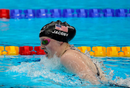 lydia jacoby, olympics, Aug 1, 2021; Tokyo, Japan; Lydia Jacoby (USA) in the women's 4x100m medley final during the Tokyo 2020 Olympic Summer Games at Tokyo Aquatics Centre. Mandatory Credit: Rob Schumacher-USA TODAY Sports