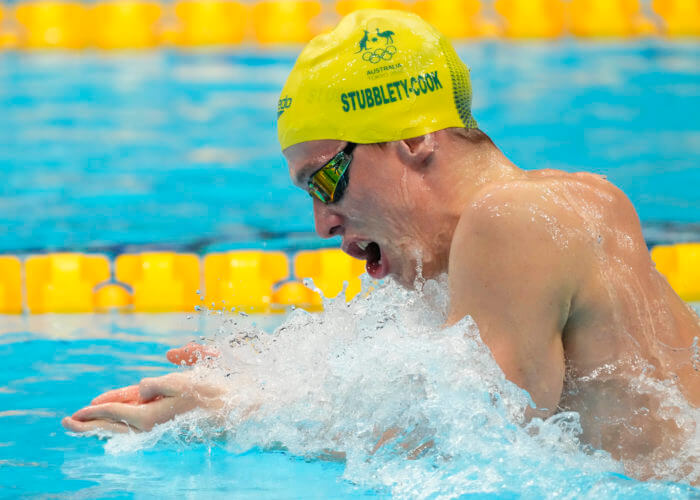 zac stubblety-cook, olympics, Jul 28, 2021; Tokyo, Japan; Izaac Stubblety-Cook (AUS) in the men's 200m breaststroke semifinals during the Tokyo 2020 Olympic Summer Games at Tokyo Aquatics Centre. Mandatory Credit: Rob Schumacher-USA TODAY Sports