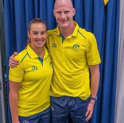 Rowan and coach Kate Sparkes