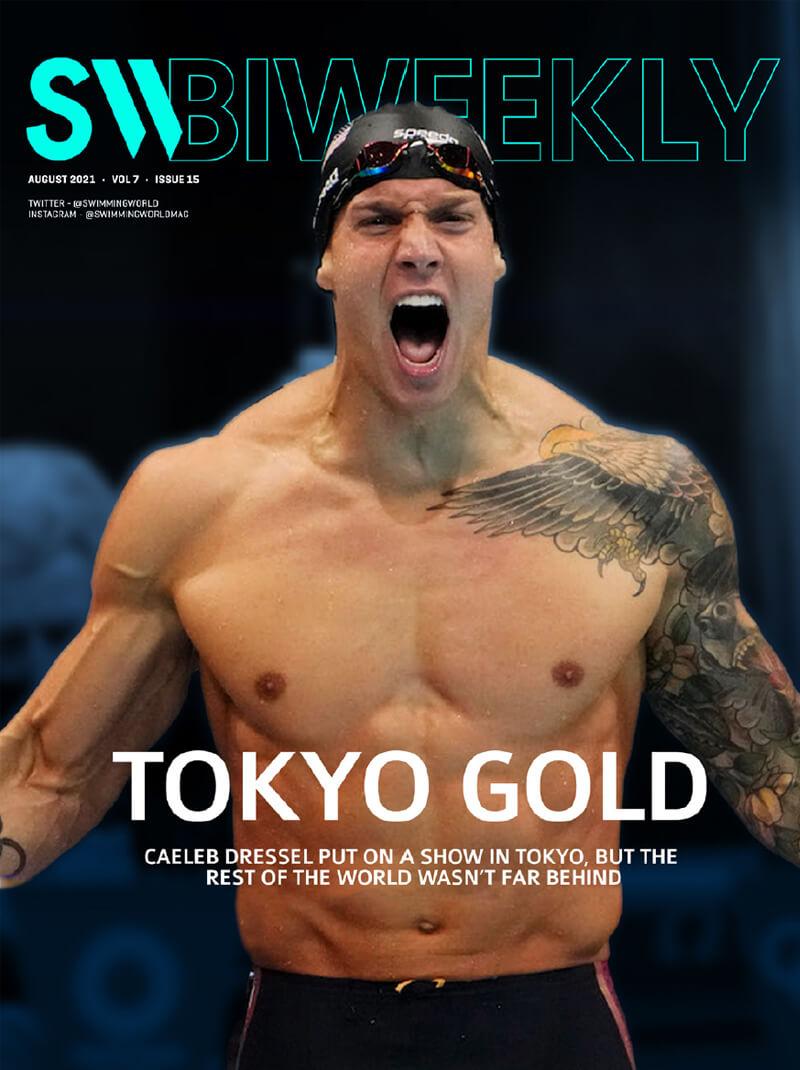 SW Biweekly 8-7-21 - Tokyo Gold - Caeleb Dressel - COVER